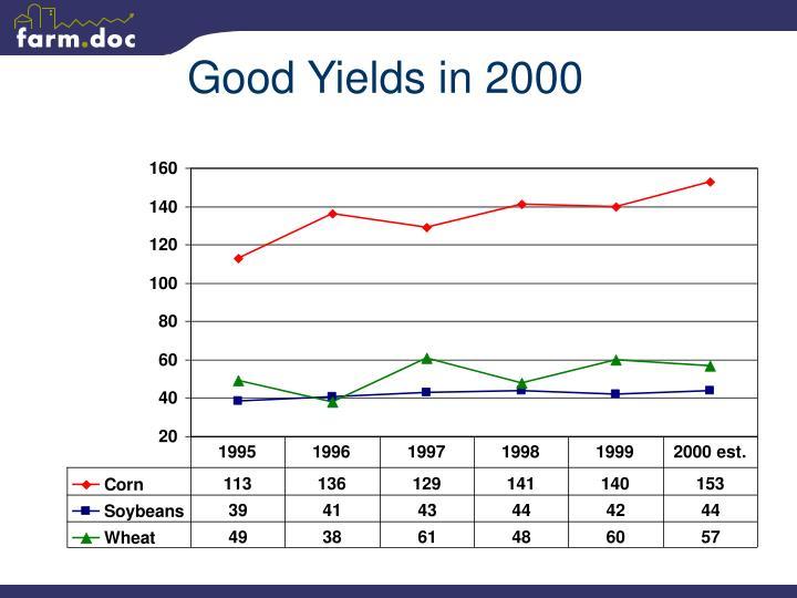 Good Yields in 2000
