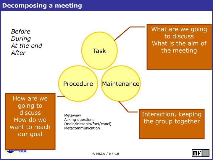 Decomposing a meeting