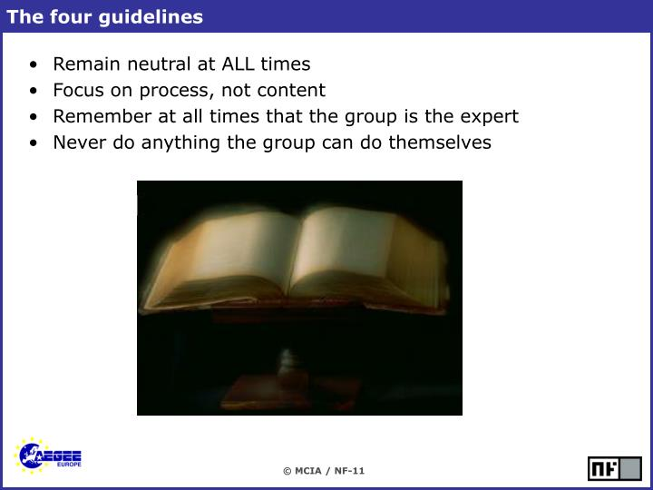 The four guidelines