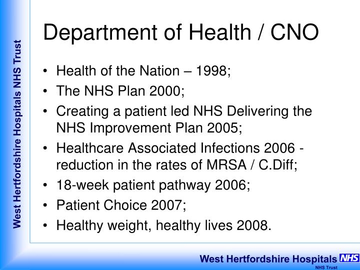 Department of Health / CNO