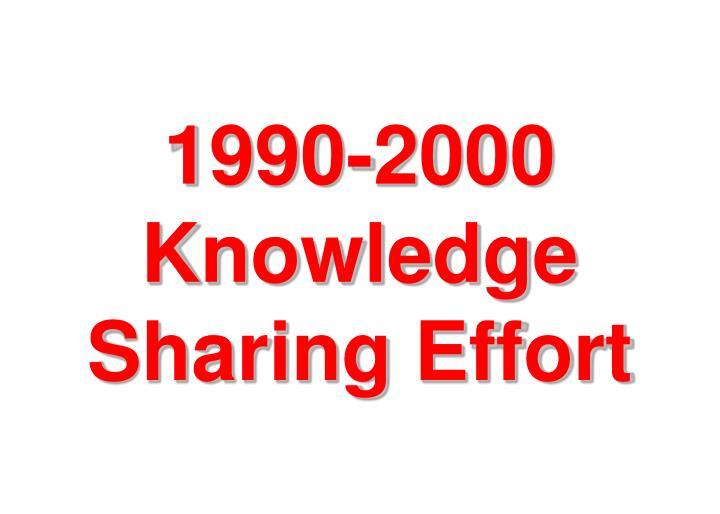 1990-2000 Knowledge Sharing Effort
