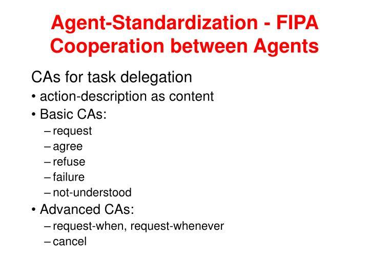 Agent-Standardization - FIPA