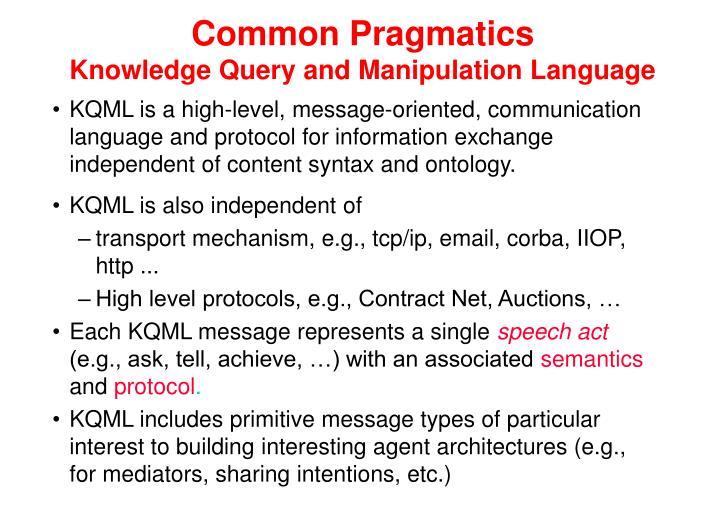 Common Pragmatics