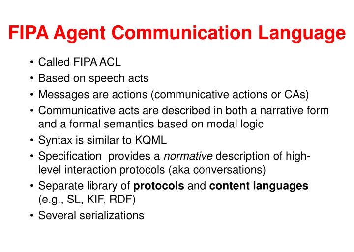 FIPA Agent Communication Language