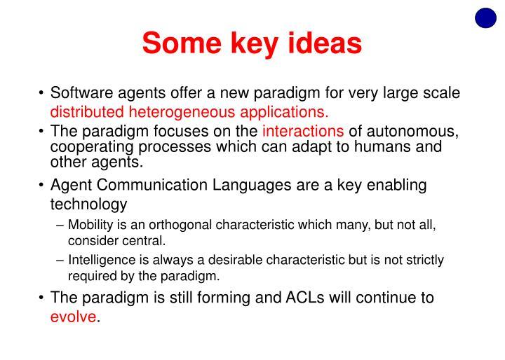 Some key ideas