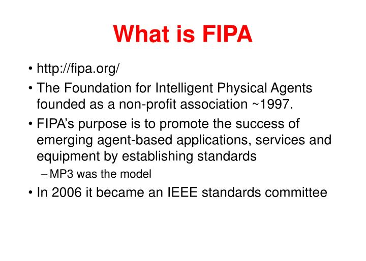 What is FIPA