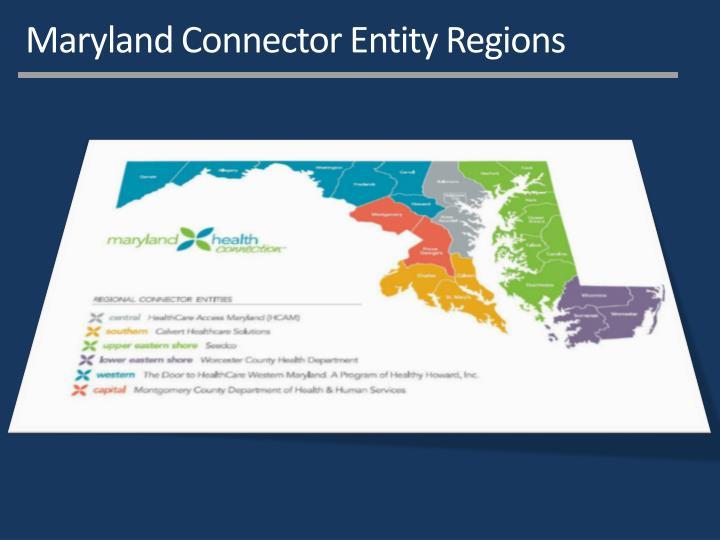 Maryland Connector Entity Regions