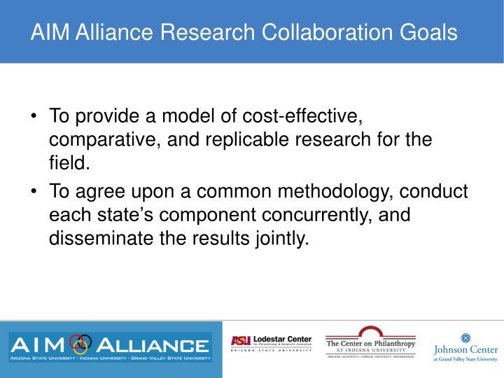 AIM Alliance Research Collaboration Goals