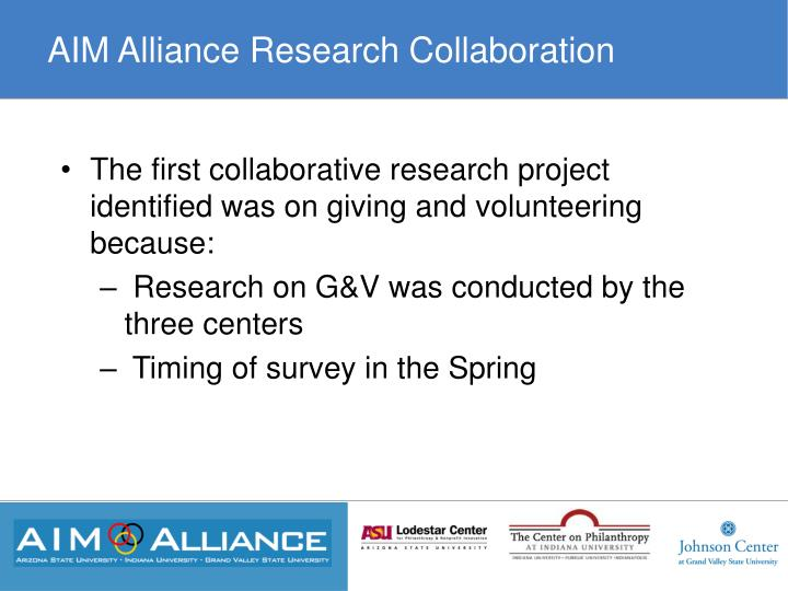 AIM Alliance Research Collaboration