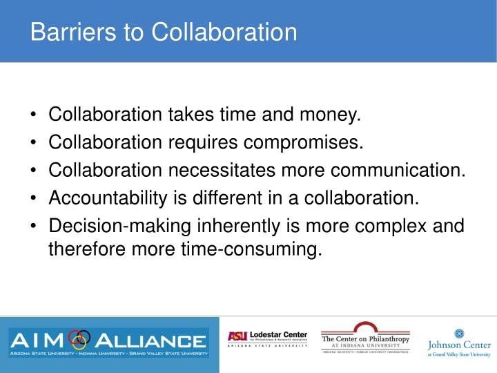 Barriers to Collaboration