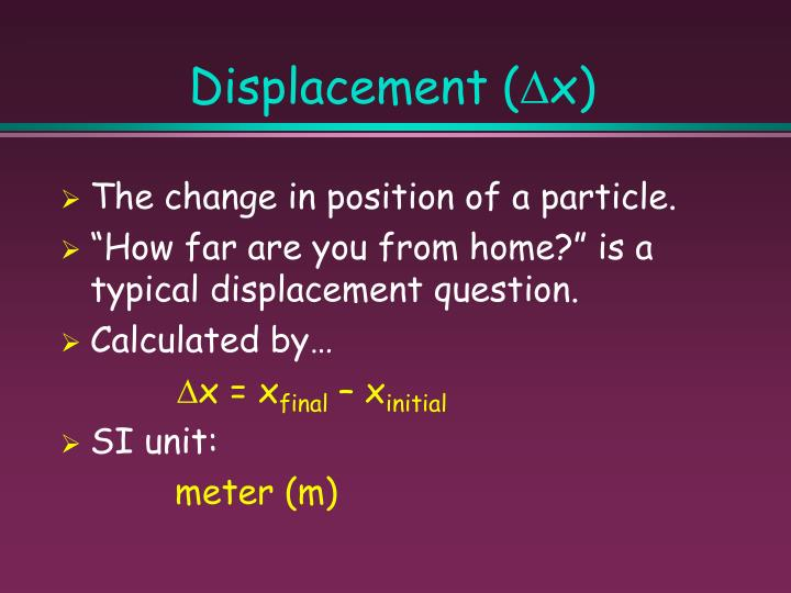 Displacement (