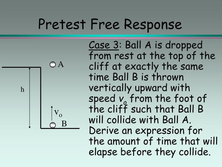 Pretest Free Response
