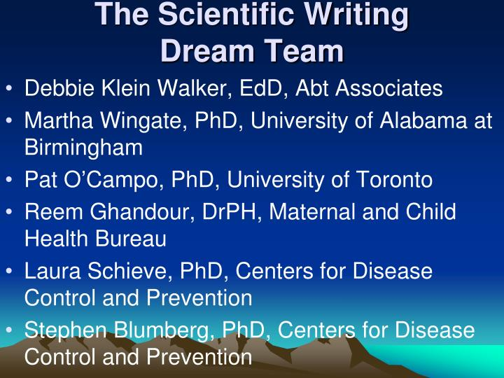 The Scientific Writing