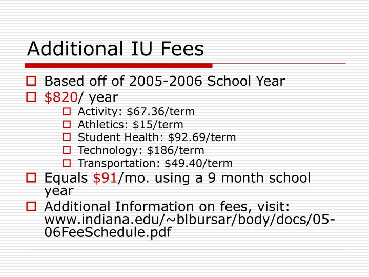 Additional IU Fees