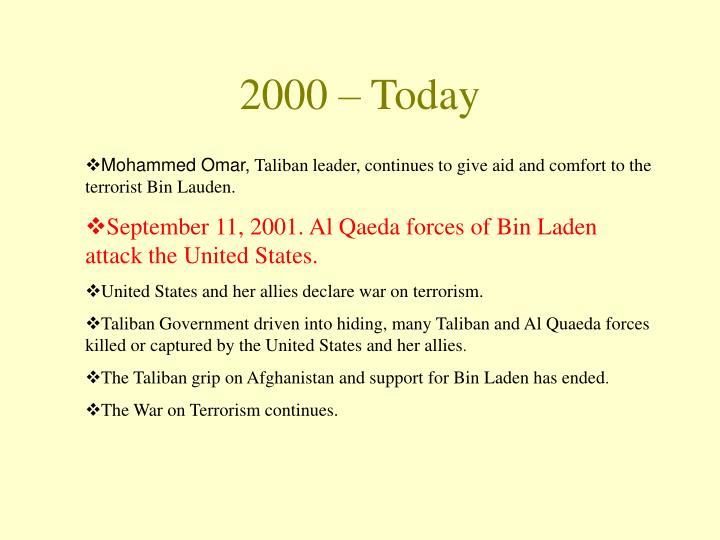 2000 – Today
