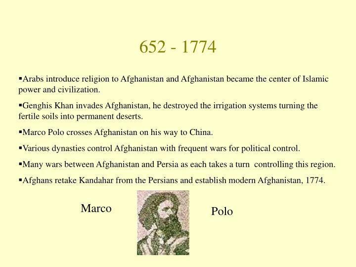 652 - 1774