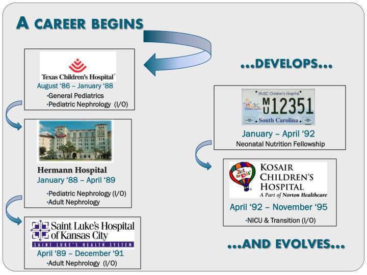 A career begins