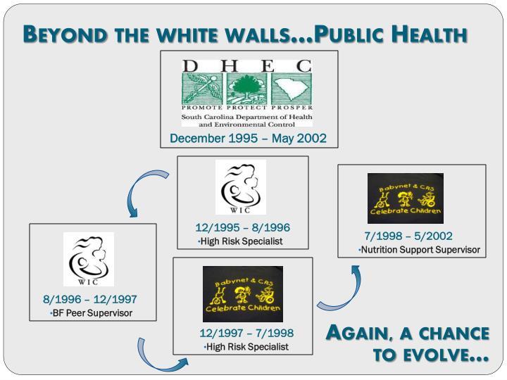 Beyond the white walls…Public Health