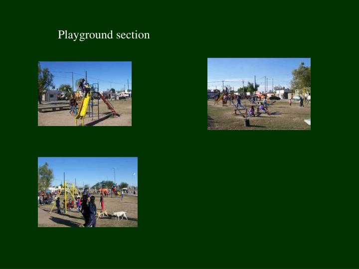 Playground section