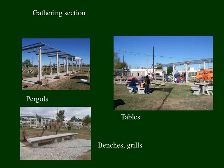 Gathering section