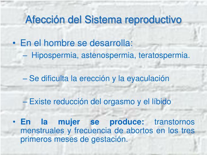 Afección del Sistema reproductivo