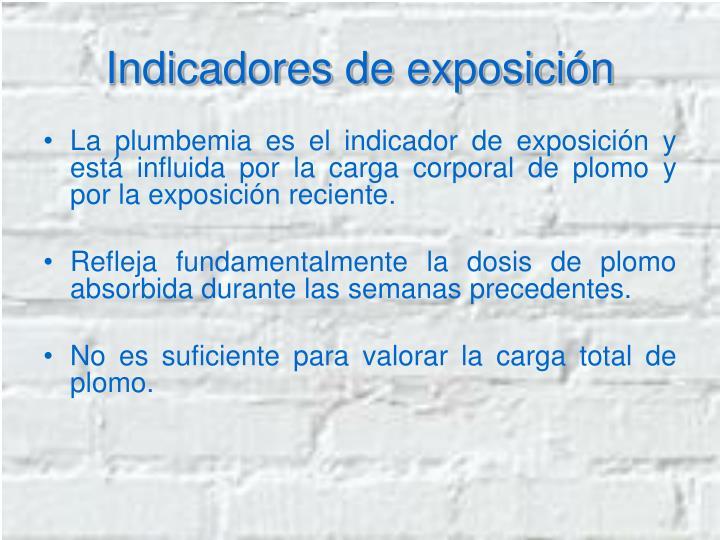 Indicadores de exposición