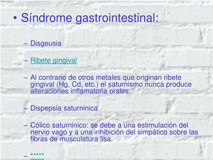 Síndrome gastrointestinal: