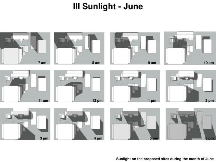 III Sunlight - June