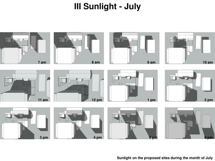 III Sunlight - July