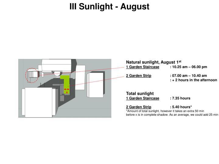 III Sunlight - August