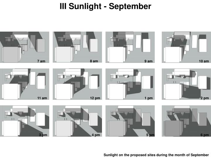 III Sunlight - September