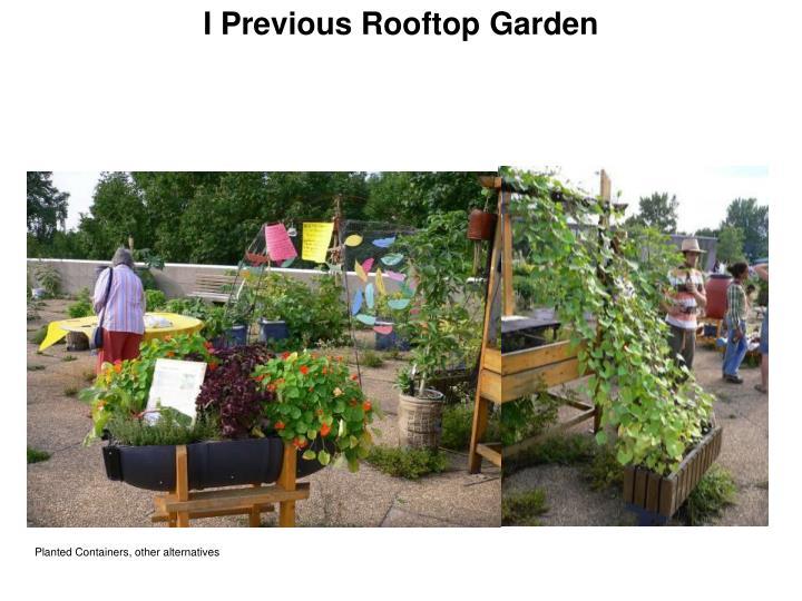 I Previous Rooftop Garden