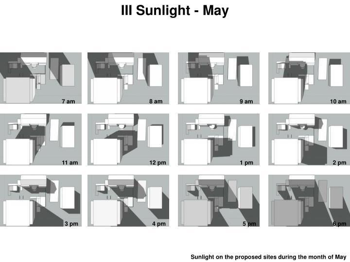 III Sunlight - May
