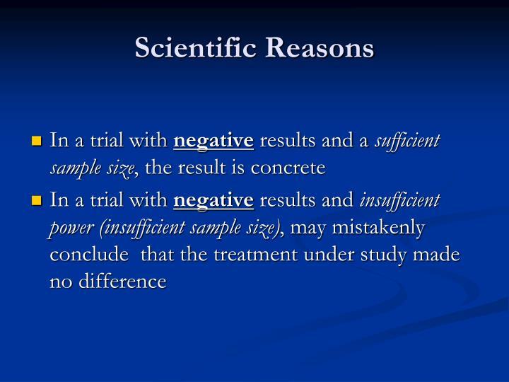 Scientific Reasons