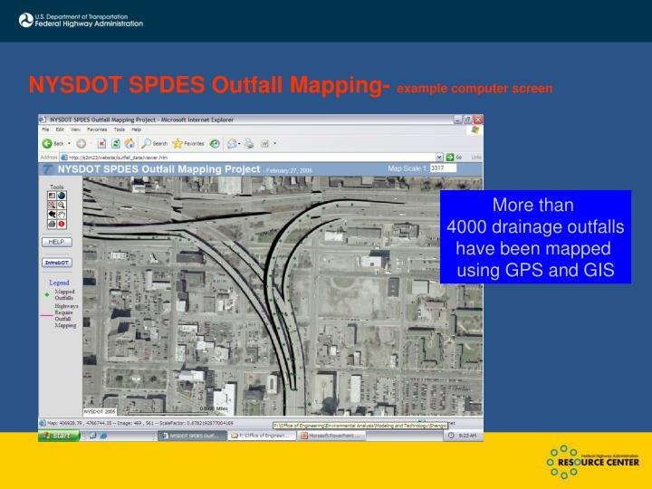 NYSDOT SPDES Outfall Mapping-