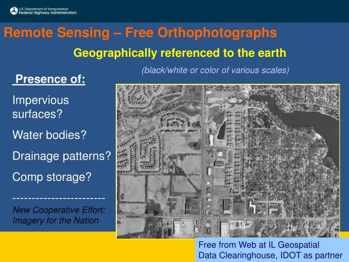 Remote Sensing – Free Orthophotographs