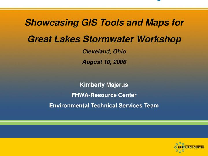 Showcasing GIS Tools and Maps for