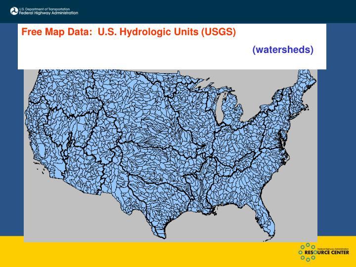 Free Map Data:  U.S. Hydrologic Units (USGS)