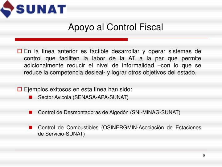 Apoyo al Control Fiscal