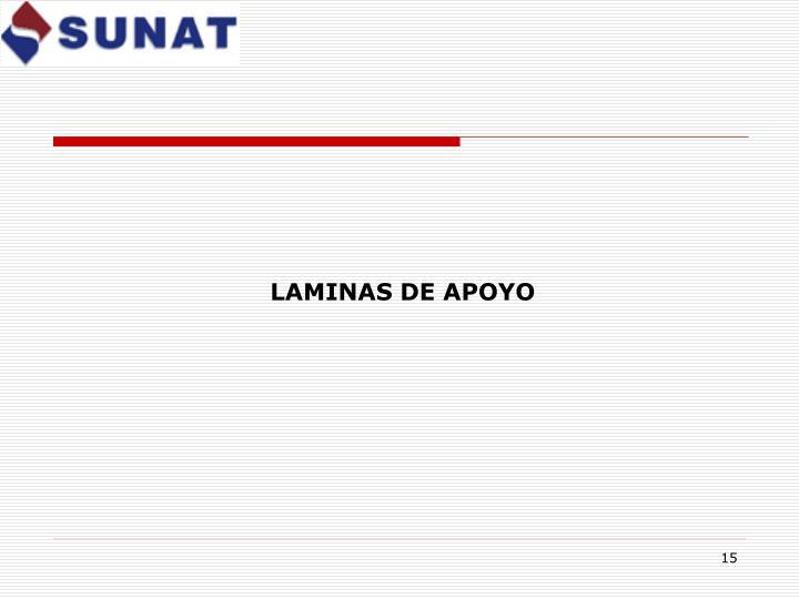 LAMINAS DE APOYO