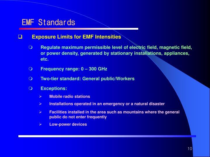 EMF Standards