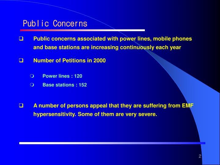 Public Concerns