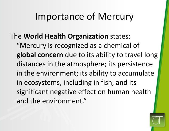 Importance of mercury