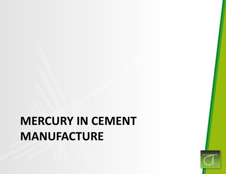 Mercury in Cement Manufacture
