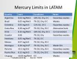 mercury limits in latam