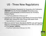 us three new regulations