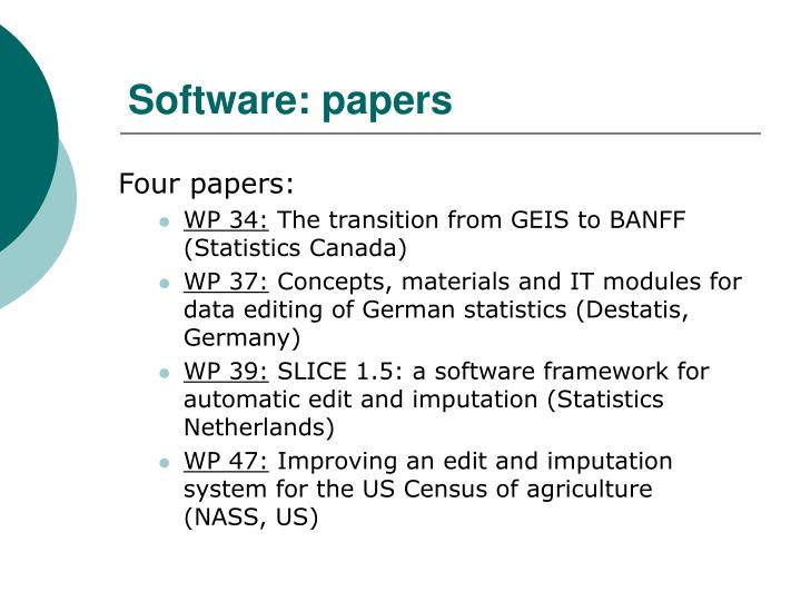 Software: papers