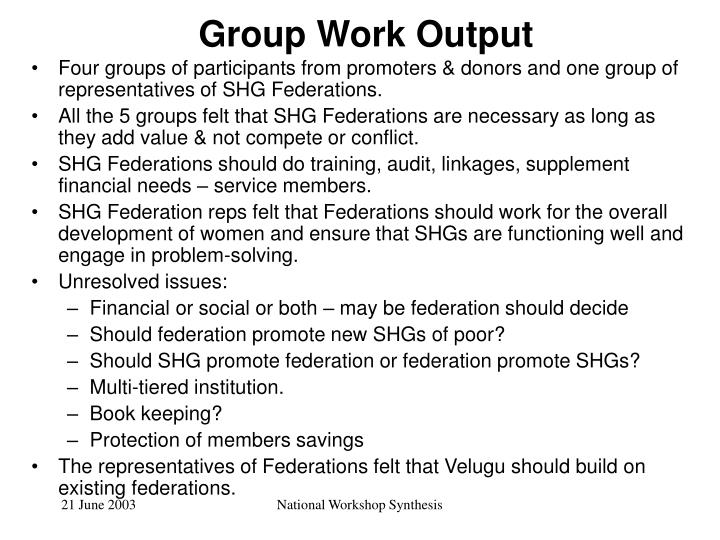 Group Work Output