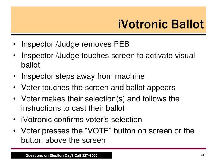 iVotronic Ballot