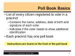 poll book basics1